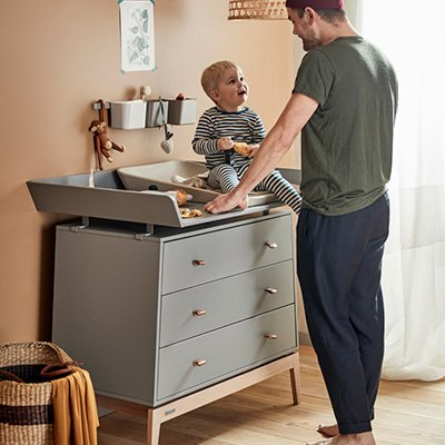 Linea by Leander Cover for Linea Changing Table without Changing Table and Foam Pad Cool Grey